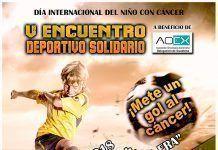 Cartel del V Encuentro Deportivo Solidario 2018 a beneficio de la Delegación de Guadiana del Caudillo de AOEX