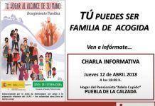 Cartel Charla de Cruz Roja sobre acogimiento familiar