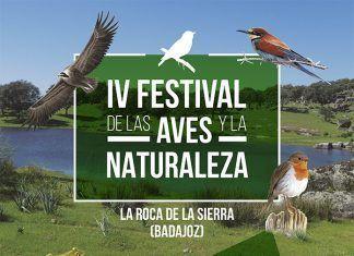 Cartel del IV Festival de las Aves y la Naturaleza de La Roca de la Sierra