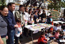 Escolares de Puebla de la Calzada celebraron el Día del Libro (foto Prudencio Merino)