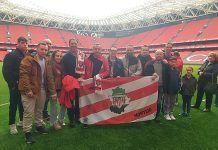 La Peña Athetic Club de Montijo viajó a Bilbao para presenciar en San Mamés el partido Athetic-Deportivo La Coruña