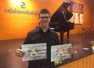 """Alberto Pérez García, ganador del """"XVII Concurso Jóvenes Músicos Ciudad de Almendralejo"""""""