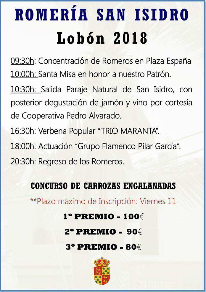 Cartel San Isidro 2018 en Lobón