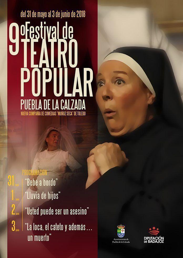 Cartel Festival de Teatro Popular en Puebla de la Calzada