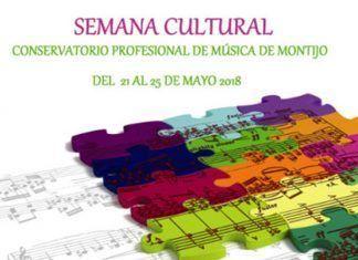 Cartel semana cultural del Conservatorio de Montijo