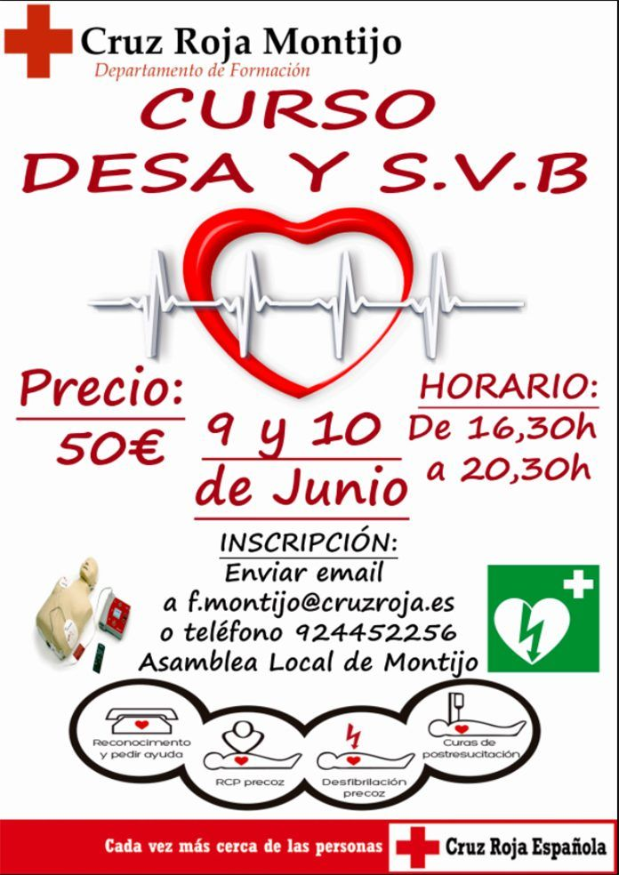 Curso DESA y SVB en Cruz Roja Montijo