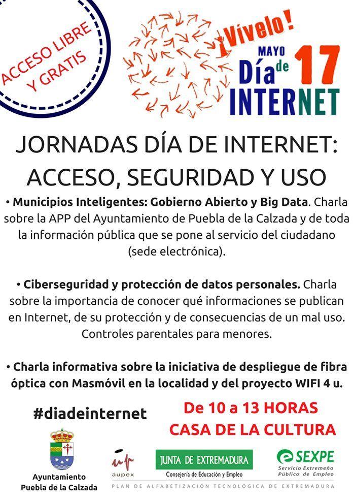 Día Internet 2018 en Puebla de la Calzada, acceso, seguridad y uso