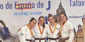 La montijana de Gimnasio Corpore Alba González, Subcampeona de España Cadete de Judo