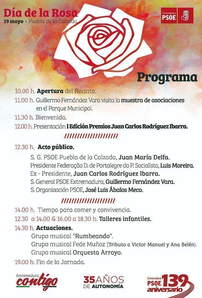 Programa del III Día de la Rosa en Puebla de la Calzada
