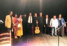 Participantes en el Festival Flamenco Solidario celebrado en Montijo.