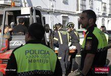 Actuación de medios sanitarios y de rescate en Montijo
