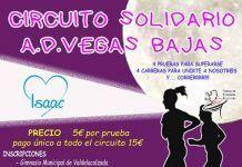 Cartel del Circuito Solidario Vegas Bajas a favor de Isaac