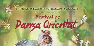 Cartel del Festival de danza oriental en Puebla de la Calzada