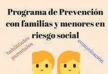 Cartel del Programa de Prevención con Familias y Menores en Riesgo Social en Montijo
