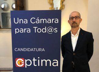 Javier del Viejo Requezabal, miembro de la candidatura Óptima a la Cámara de Comercio de Badajoz