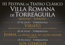 Cartel III Festival de Teatro Clásico Villa Romana de Torreáguila 2018