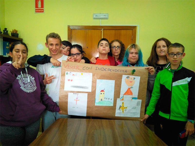Alumnos del CEE Ponce de León que han participado en el proyecto.