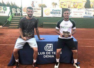 Alberto Barroso campeón en dobles del torneo de Denia (Alicante)
