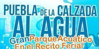 Cartel fiesta del agua en Puebla de la Calzada