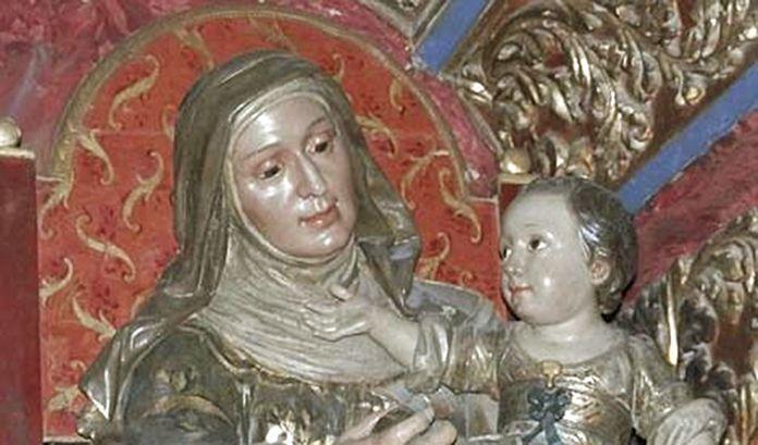 Imagen de Santa Ana con la Virgen en su regazo de Blas Molner (detalle)