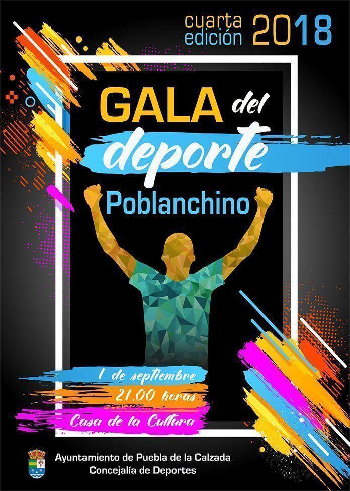Cartel cuarta gala del deporte de Puebla de la Calzada