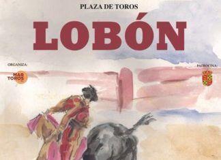 Cartel de la clase práctica para alumnos de tauromaquia en Lobón