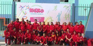 Integrantes de la Selección Española desplazada a Perú