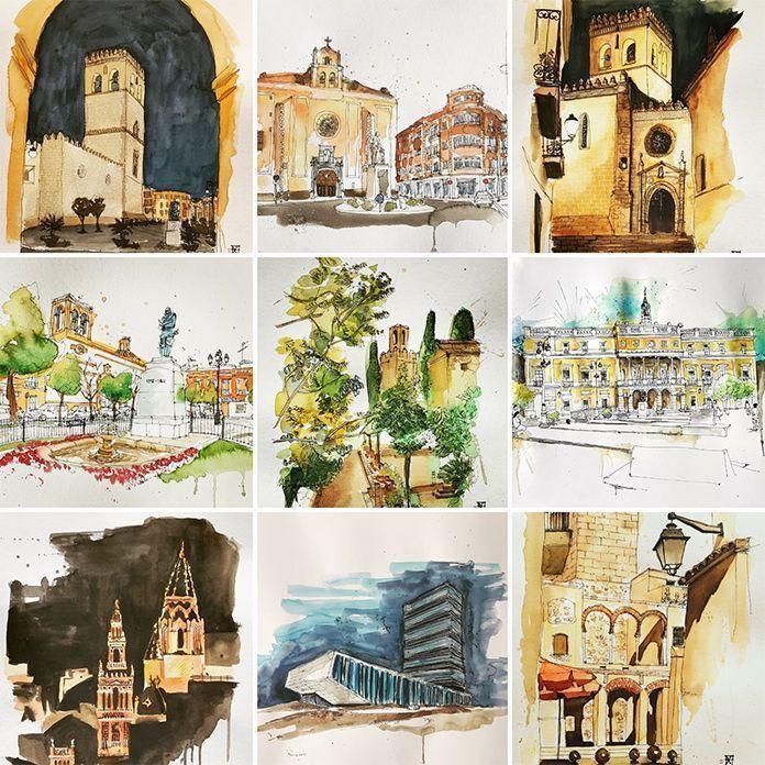 Monumentos de Extremadura, obras de Carlos Tinoco de Castilla