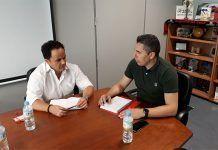 Reunión del alcalde de Montijo con el director general de Deportes de la Junta de Extremadura