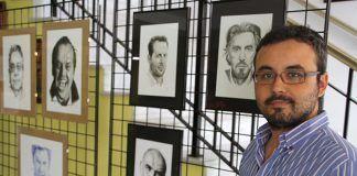 Alberto Arroyo expone sus dibujos en Puebla de la Calzada