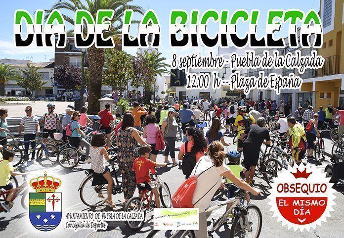 Cartel dia de la bicicleta 2018 en Puebla de la Calzada