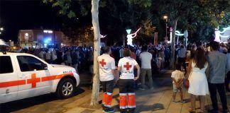 Despliegue de Cruz Roja durante la Feria de Montijo