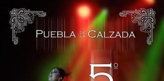 Cartel del concurso de coplas del Festival del Guadiana 2018