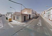 Cruce de calle Carolina Coronado con calle López de Ayala en Montijo (foto Google Maps)