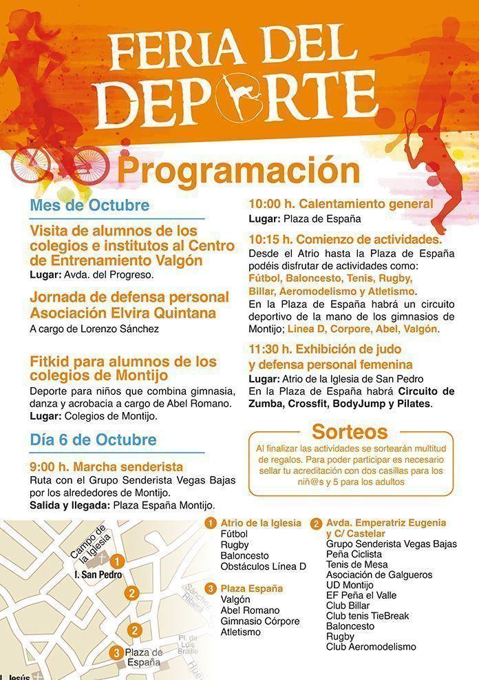 Programa de la Feria del Deporte de Montijo 2018