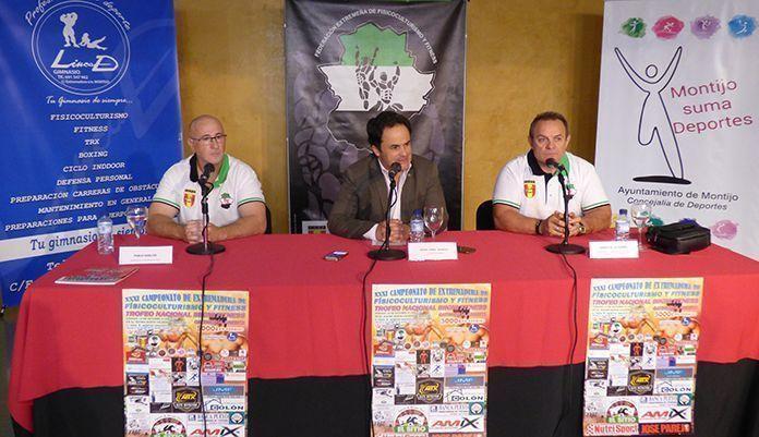 Rueda de prensa de presentación del XXXI Campeonato de Extremadura de Físicoculturismo y Fitness de Montijo