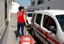 Voluntaria del proyecto 'Salud Constante' de Cruz Roja Montijo