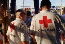 Voluntarios de Cruz Roja en Valdelacalzada (foto Cruz Roja Extremadura:Twitter)