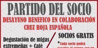 Cartel Partido del Socio UD Montijo