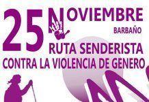 Cartel ruta senderista contra la violencia de género en Barbaño