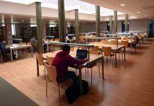 Sala de lectura de la Biblioteca de Montijo