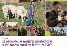 Cartel Jornada sobre el papel de las mujeres productoras y del medio rural en la futura PAC