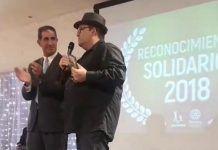Pedro Monty recibe una mención a la solidaridad del Club Rotary de Badajoz