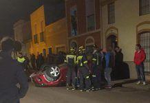 Accidente en calle Reina Maria Cristina de Montijo