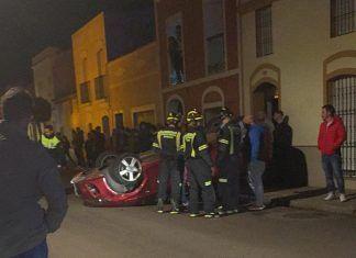 Montijo Accidente en calle Reina Maria Cristina