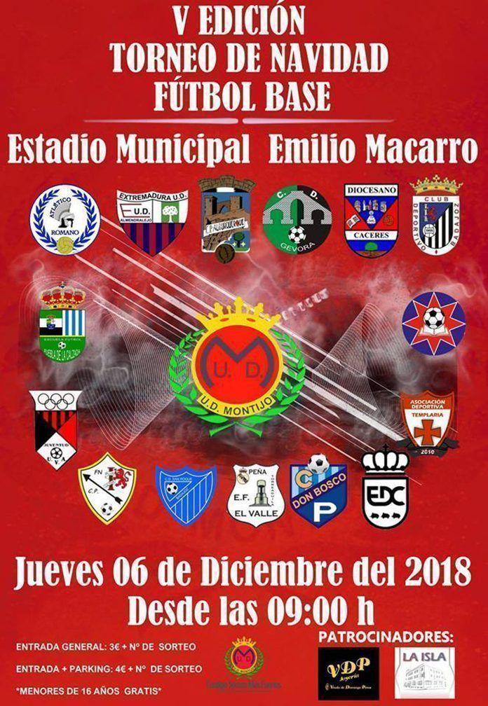 Cartel V Torneo de Navidad Fútbol Base UD Montijo