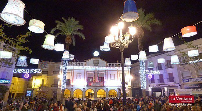 alumbrado navideño en Montijo