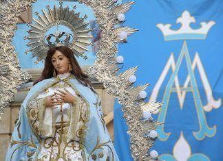 Imagen de la Inmaculada Concepción en la iglesia de San Pedro Apóstol de Montijo