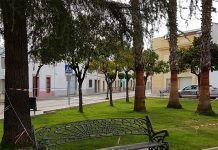 Parque de la Plaza Alfonso XIII en Montijo