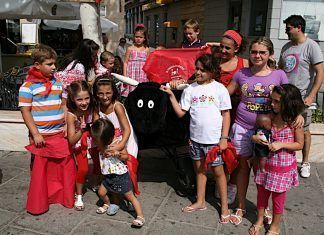Encierro infantil en la Feria de Montijo 2009
